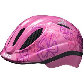 KED Meggy Trend Helmet Kids pink flower